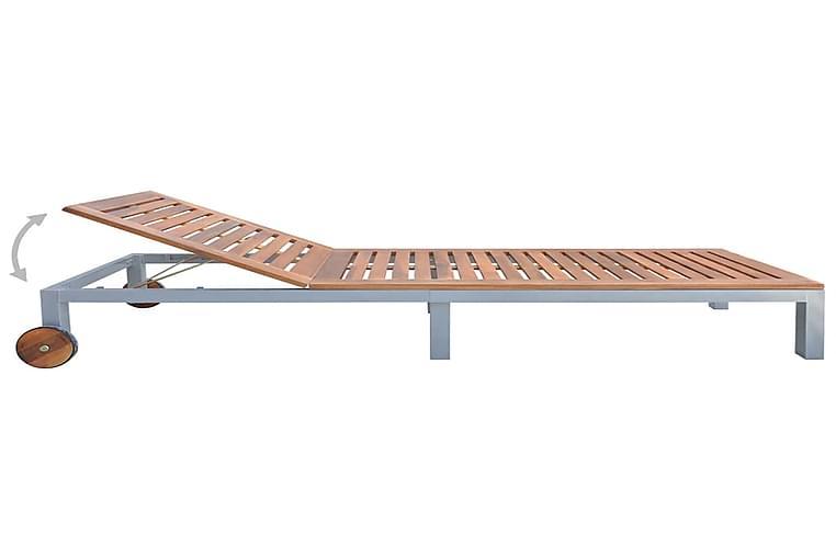 Aurinkotuoli akaasiapuu - Ruskea - Puutarhakalusteet - Tuolit & nojatuolit - Aurinkosänky & aurinkovaunu