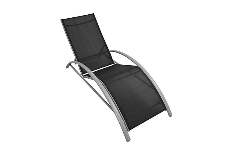Aurinkotuoli alumiini musta - Musta - Puutarhakalusteet - Tuolit & nojatuolit - Aurinkosänky & aurinkovaunu