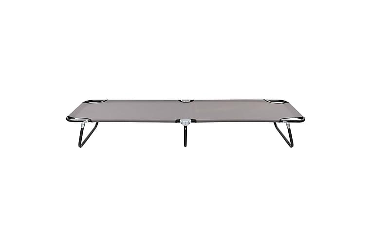 Kokoontaitettava aurinkotuoli harmaa teräs - Harmaa - Puutarhakalusteet - Tuolit & nojatuolit - Aurinkosänky & aurinkovaunu
