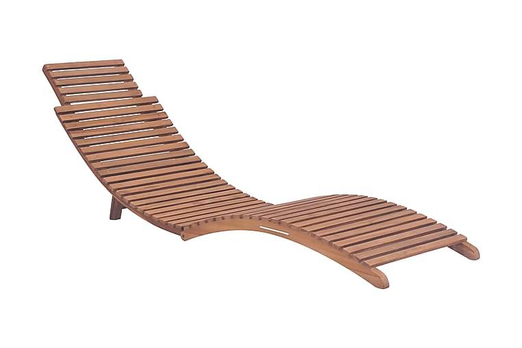 Kokoontaitettava aurinkotuoli tiikki - Ruskea - Puutarhakalusteet - Tuolit & nojatuolit - Aurinkosänky & aurinkovaunu
