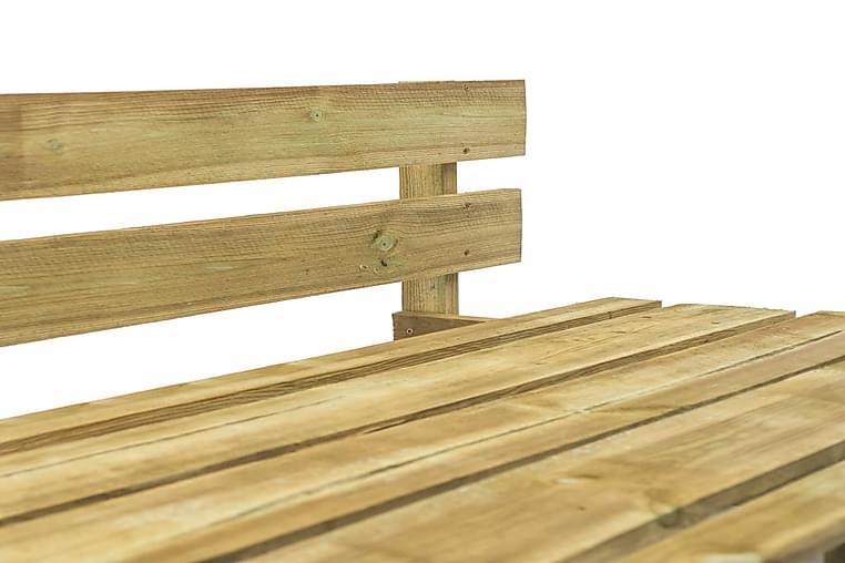 Puutarhan lavakulmapenkki puu - Ruskea - Puutarhakalusteet - Tuolit & nojatuolit - Aurinkosänky & aurinkovaunu