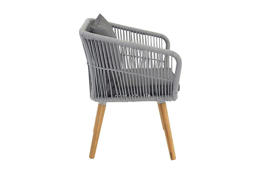 Karmituoli Chania - Harmaa - Puutarhakalusteet - Tuolit & nojatuolit - Ulkotilan ruokatuolit