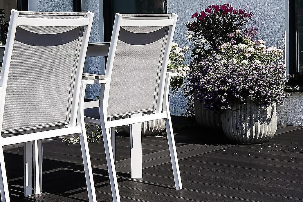 Karmituoli Parma - Valkoinen - Puutarhakalusteet - Tuolit & nojatuolit - Ulkotilan ruokatuolit