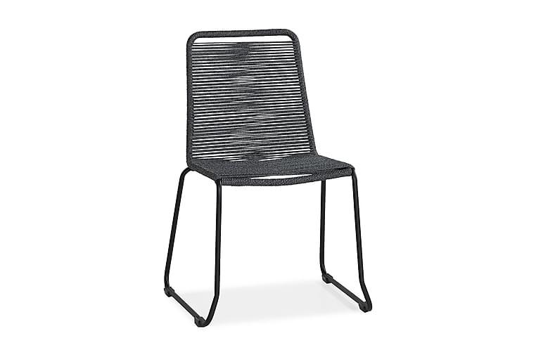 Tuoli Fiji - Harmaa/Musta - Puutarhakalusteet - Tuolit & nojatuolit - Ulkotilan ruokatuolit