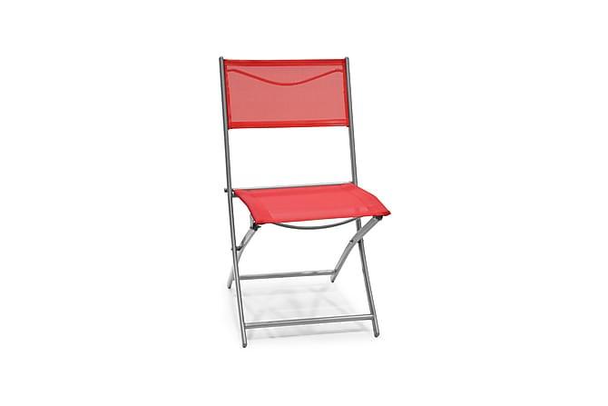 Cafè-tuoli Teräs/Tekstiili Punainen - Puutarhakalusteet - Tuolit & nojatuolit - Parveketuolit & taittotuolit