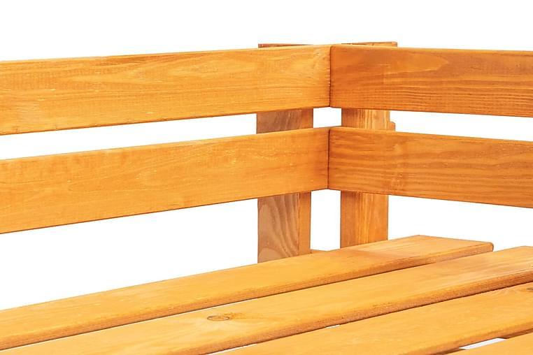 Puutarhan lavakulmapenkki puu hunajanruskea - Ruskea - Puutarhakalusteet - Tuolit & nojatuolit - Ulkorahit