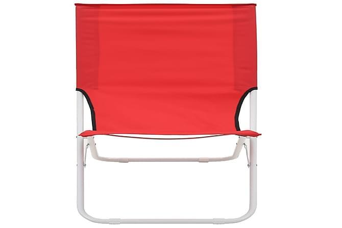 Kokoontaittuvat rantatuolit 2 kpl punainen - Punainen - Puutarhakalusteet - Tuolit & nojatuolit - Rantatuolit & retkituolit