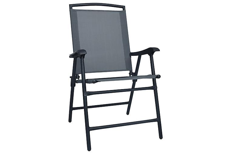Kokoontaitettavat puutarhatuolit 2 kpl textilene harmaa - Harmaa - Puutarhakalusteet - Tuolit & nojatuolit - Säätötuolit