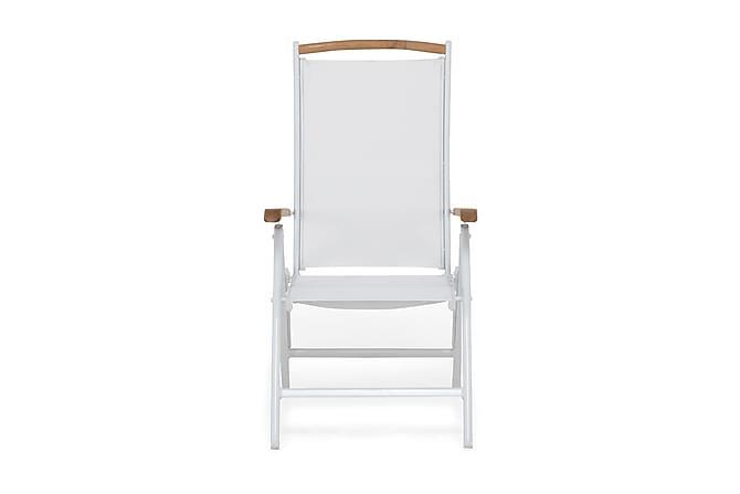 Säätötuoli Las Vegas - Valkoinen/Tiikki - Puutarhakalusteet - Tuolit & nojatuolit - Säätötuolit