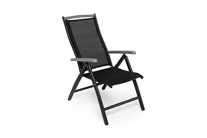 Säätötuoli Monaco - Musta/Harmaa - Puutarhakalusteet - Tuolit & nojatuolit - Säätötuolit