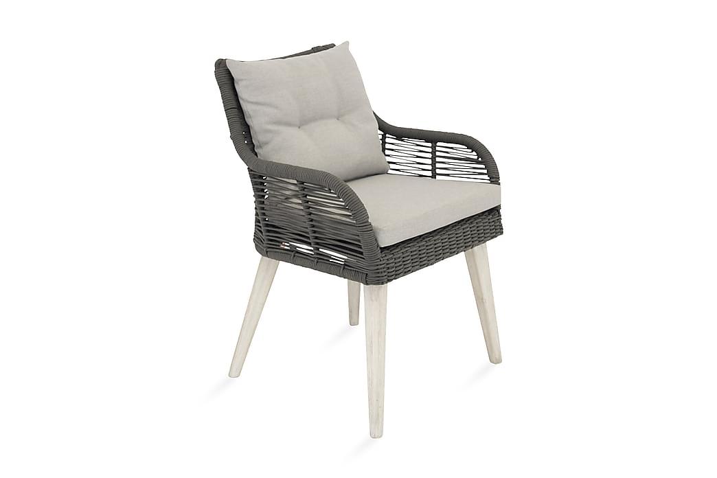 Karmituoli Gobabis - Harmaa/Valkoinen Akaasia - Puutarhakalusteet - Tuolit & nojatuolit - Ulkotilan ruokatuolit
