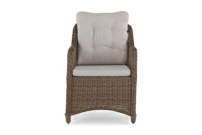 Nojatuoli Marcus pehmusteella - Luonnonväri - Puutarhakalusteet - Tuolit & nojatuolit - Ulkotilan ruokatuolit
