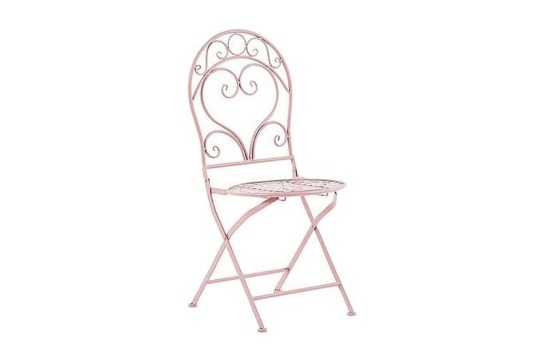 Parveketuoli Meskanaw 2-pak - Vaaleanpunainen - Puutarhakalusteet - Tuolit & nojatuolit - Ulkotilan ruokatuolit