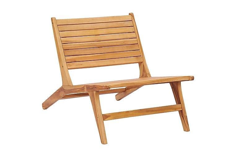 Puutarhatuoli täysi tiikki - Ruskea - Puutarhakalusteet - Tuolit & nojatuolit - Ulkotilan ruokatuolit
