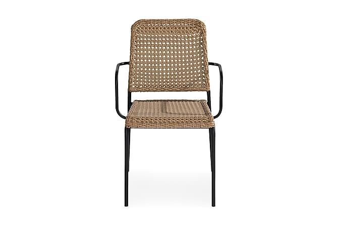 Tuoli Tahiti - Beige/Musta - Puutarhakalusteet - Tuolit & nojatuolit - Ulkotilan ruokatuolit