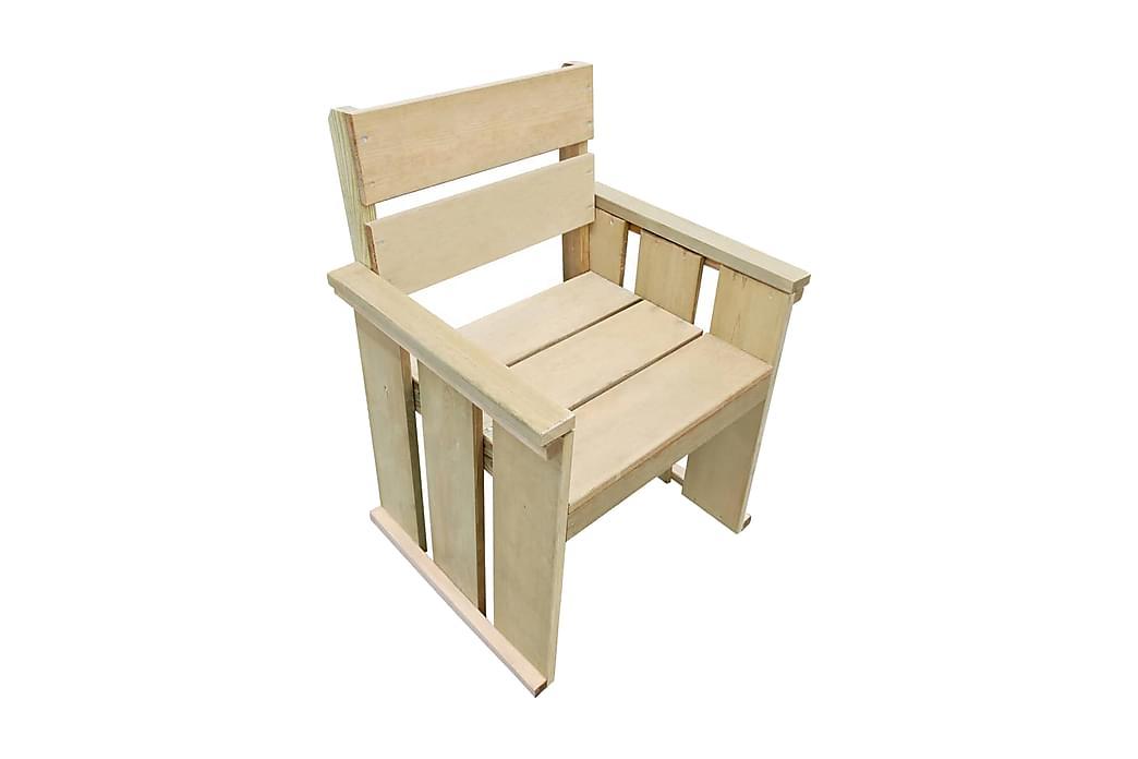 Ulkotuoli kyllästetty mänty - Ruskea - Puutarhakalusteet - Tuolit & nojatuolit - Ulkotilan ruokatuolit