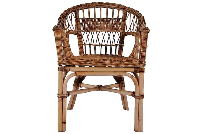 Ulkotuolit 4 kpl luonnollinen rottinki ruskea - Ruskea - Puutarhakalusteet - Tuolit & nojatuolit - Ulkotilan ruokatuolit