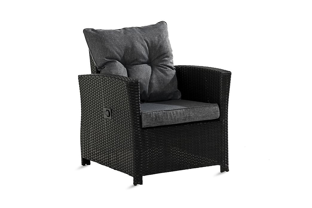 Mekanisminojatuoli James - Musta - Puutarhakalusteet - Tuolit & nojatuolit - Ulkotilan nojatuolit