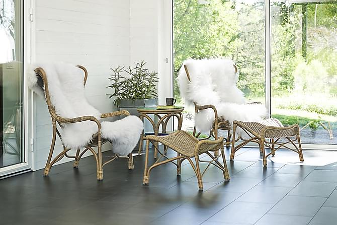 Nojatuoli Hillerstorp Praktö jalkarahilla - Luonnonväri - Puutarhakalusteet - Tuolit & nojatuolit - Ulkotilan nojatuolit