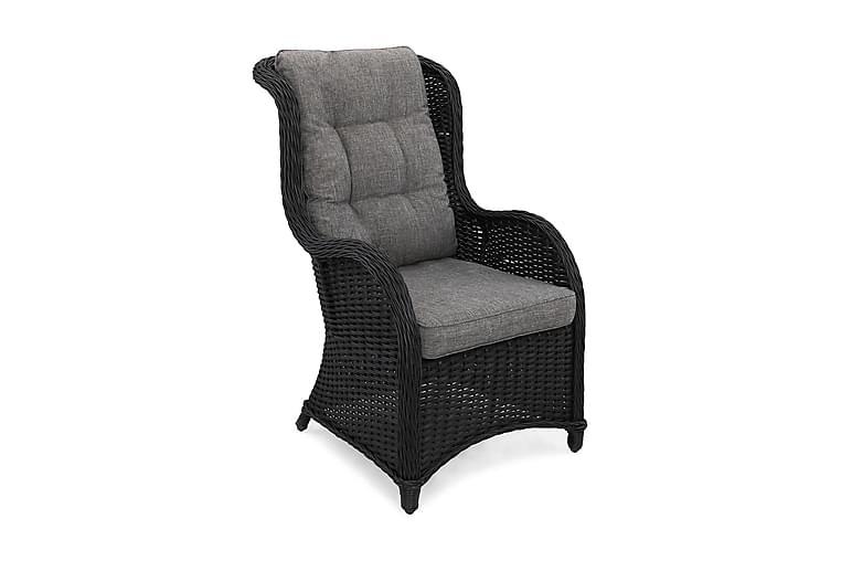 Nojatuoli Marcus Korkea - Musta - Puutarhakalusteet - Tuolit & nojatuolit - Ulkotilan nojatuolit