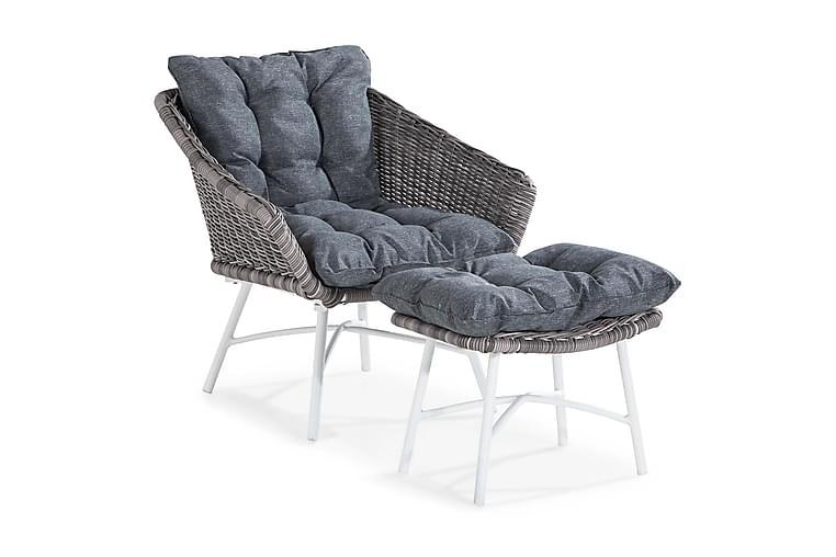 Nojatuoli rahilla Relax - Harmaa - Puutarhakalusteet - Tuolit & nojatuolit - Ulkotilan nojatuolit