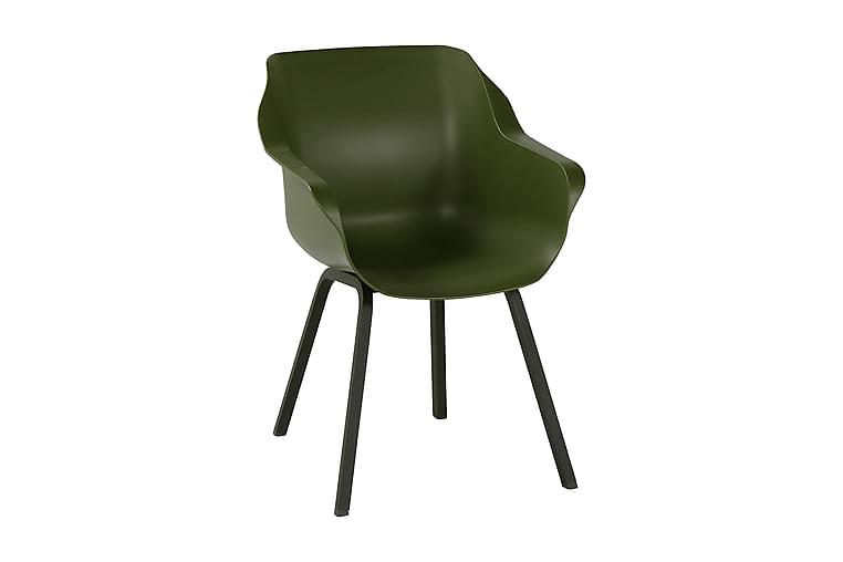 Nojatuoli Saurm Musta/Vihreä - Hartman - Puutarhakalusteet - Tuolit & nojatuolit - Ulkotilan nojatuolit