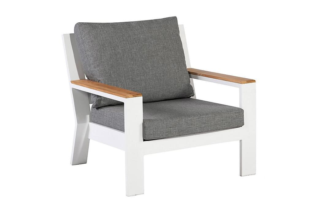 Nojatuoli Valerie - Valkoinen - Puutarhakalusteet - Tuolit & nojatuolit - Ulkotilan nojatuolit