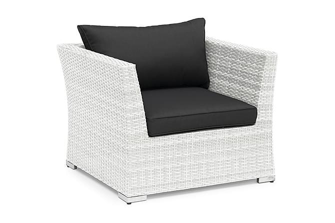 Nojatuoli Hillerstorp Wisconsin - Valkoinen - Puutarhakalusteet - Tuolit & nojatuolit - Ulkotilan nojatuolit