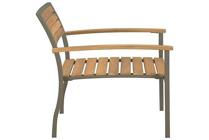Pinottavat ulkotuolit 2 kpl akaasiapuu ja teräs - Ruskea - Puutarhakalusteet - Tuolit & nojatuolit - Ulkotilan nojatuolit