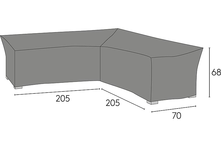 Kalustesuoja 205 / 70X205 / 70X68 cm - Harmaa - Puutarhakalusteet - Säilytyslaatikot & kalustesuojat - Kalustesuojat