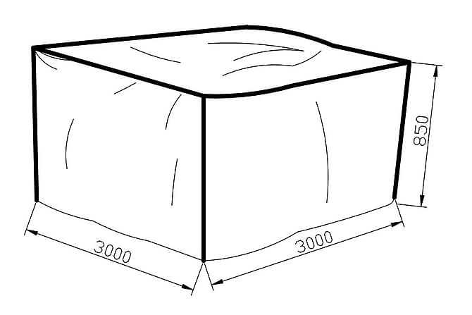 Kalustesuojapeite Karibib 300x85x300 - Harmaa - Puutarhakalusteet - Säilytyslaatikot & kalustesuojat - Kalustesuojat