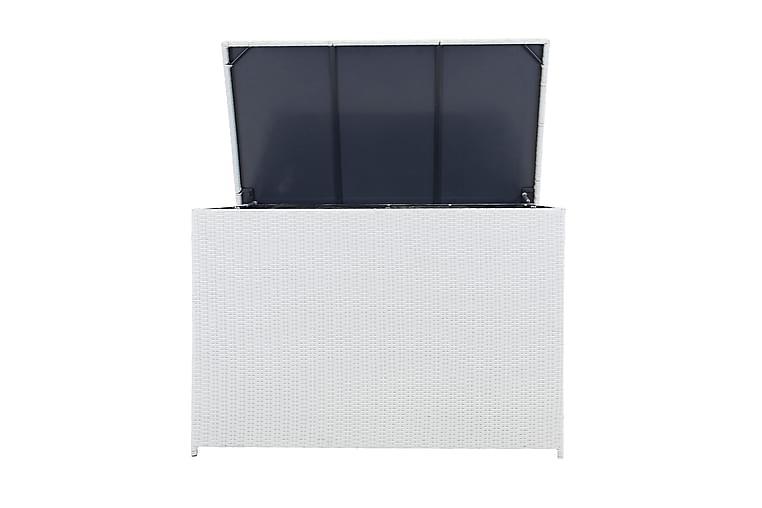Pehmustelaatikko Aranos 150x90x100.5 - Valkoinen - Puutarhakalusteet - Säilytyslaatikot & kalustesuojat - Säilytyslaatikot