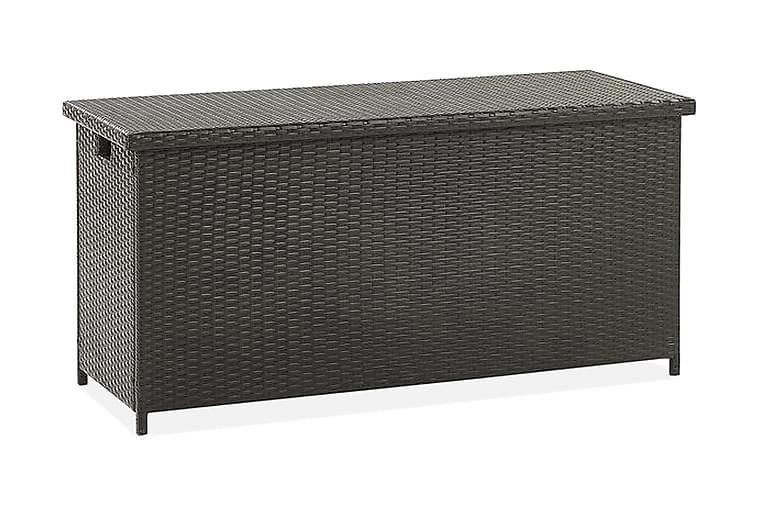 Pehmustelaatikko Cebrosa 126x46 cm - Ruskea/Polyrottinki - Puutarhakalusteet - Säilytyslaatikot & kalustesuojat - Säilytyslaatikot