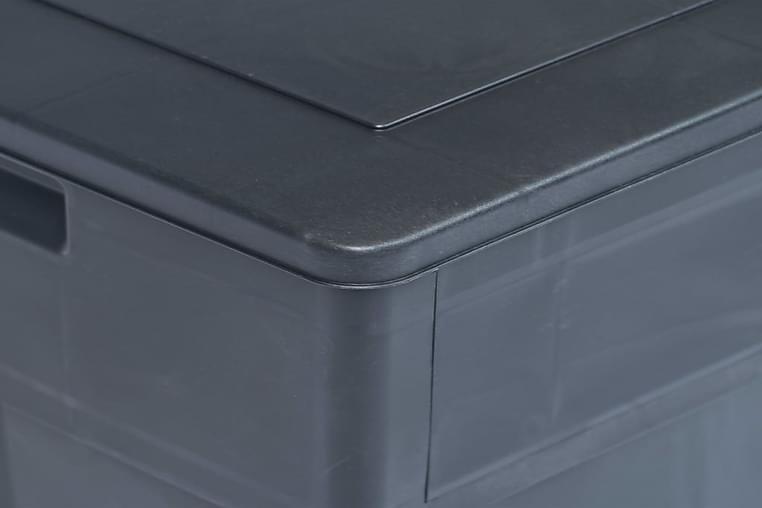 Puutarhan varastoarkku 320 l musta - Musta - Puutarhakalusteet - Säilytyslaatikot & kalustesuojat - Säilytyslaatikot