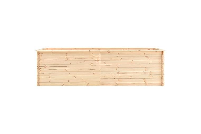 Korotettu kukkalaatikko 300x100x80,5 cm mänty 19 mm - Ruskea - Puutarhakalusteet - Tarvikkeet ulos - Ruukut ulkokäyttöön