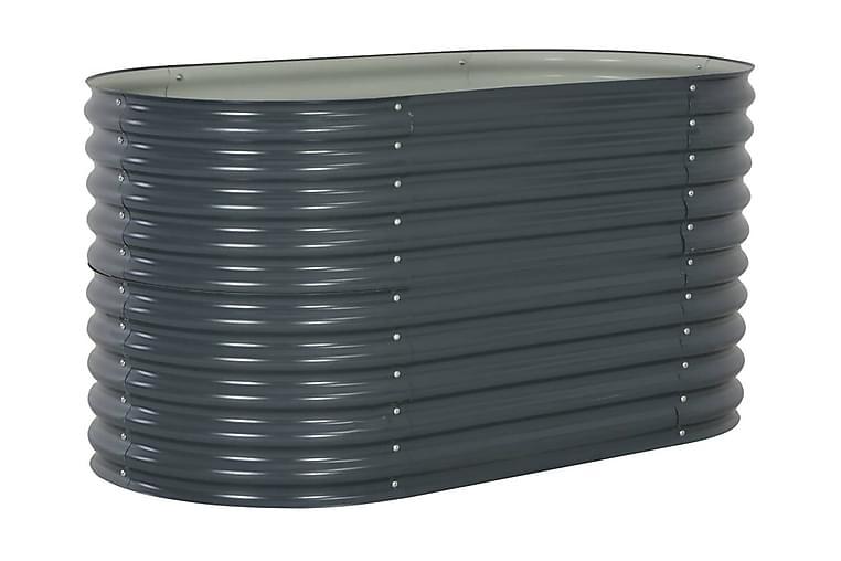 Korotettu puutarhalaatikko 160x80x81cm harmaa - Harmaa - Puutarhakalusteet - Tarvikkeet ulos - Ruukut ulkokäyttöön