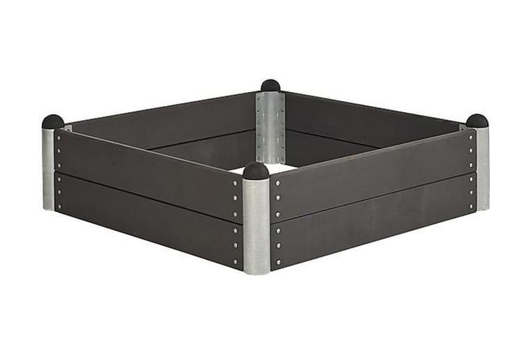Pipe Viljelylaatikko 138x138 cm - Korkeus 36 cm - Komposiitt - Puutarhakalusteet - Tarvikkeet ulos - Ruukut ulkokäyttöön