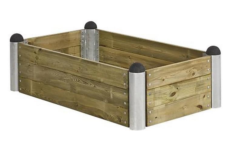 Pipe Viljelylaatikko 80x140 cm - Korkeus 36 cm - painekäsite - Puutarhakalusteet - Tarvikkeet ulos - Ruukut ulkokäyttöön