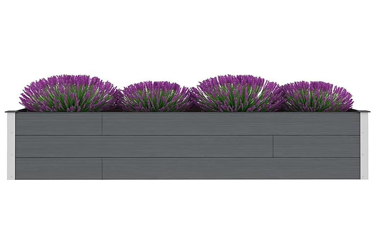 Puutarhan korotettu kukkalaatikko WPC 200x50x54 cm harmaa - Harmaa - Puutarhakalusteet - Tarvikkeet ulos - Ruukut ulkokäyttöön