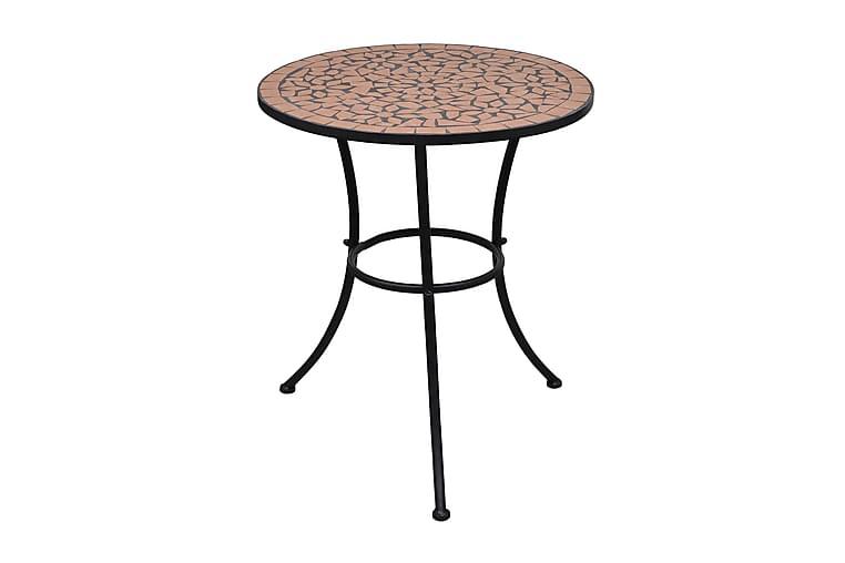Bistropöytä terrakotta 60 cm mosaiikki - Ruskea - Puutarhakalusteet - Terassipöydät - Kahvilapöydät