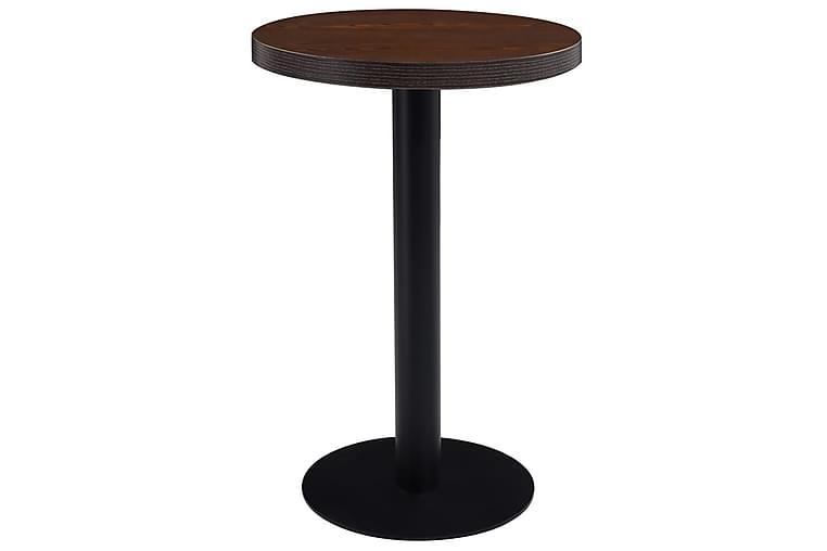 Bistropöytä tummanruskea 50 cm MDF - Puutarhakalusteet - Terassipöydät - Kahvilapöydät