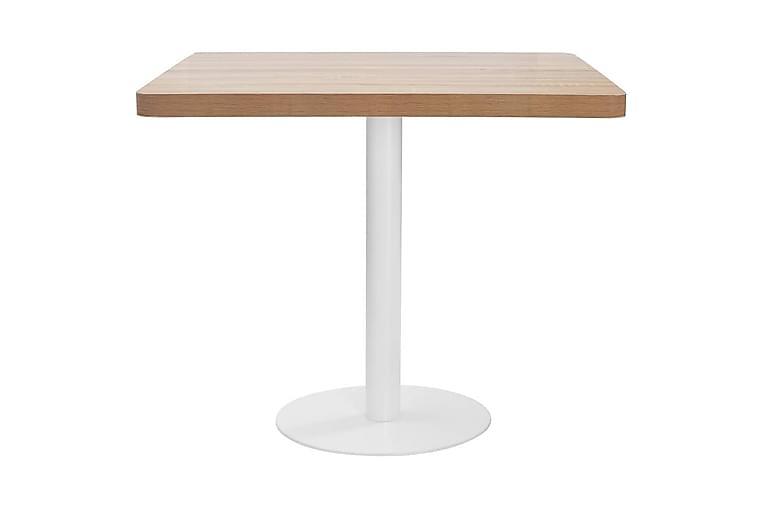 Bistropöytä vaaleanruskea 80x80 cm MDF - Puutarhakalusteet - Terassipöydät - Kahvilapöydät