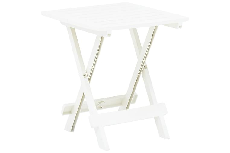 Kokoontaittuva puutarhapöytä valkoinen 45x43x50 cm muovi - Valkoinen - Puutarhakalusteet - Terassipöydät - Kahvilapöydät