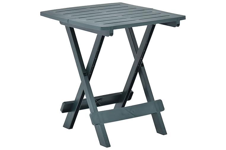 Kokoontaittuva puutarhapöytä vihreä 45x43x50 cm muovi - Vihreä - Puutarhakalusteet - Terassipöydät - Kahvilapöydät