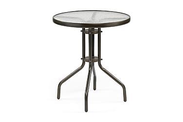 Pöytä Alvdalen Tummanruskea teräs