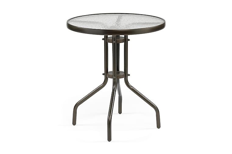 Pöytä Alvdalen Tummanruskea teräs - Puutarhakalusteet - Terassipöydät - Kahvilapöydät