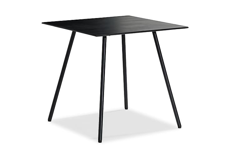 Parvekepöytä Tahiti 75x75 cm - Musta - Puutarhakalusteet - Terassipöydät - Kahvilapöydät