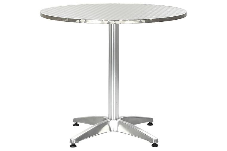 Puutarhapöytä hopea 80x70 cm alumiini - Hopea - Puutarhakalusteet - Terassipöydät - Kahvilapöydät