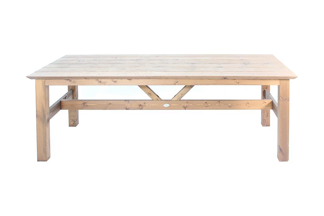 Pöytä Viking 220x90 cm Ruskea Kyllästetty - Eden Wood - Puutarhakalusteet - Terassipöydät - Lounge pöydät