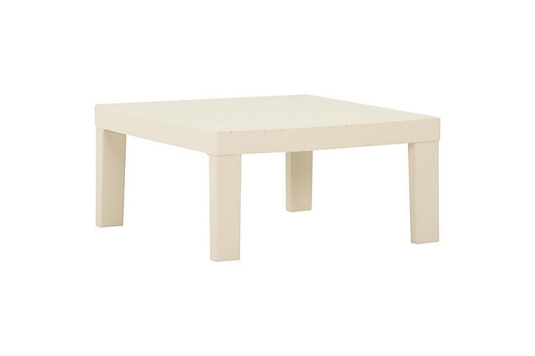 Puutarhan sohvapöytä muovi valkoinen - Puutarhakalusteet - Terassipöydät - Lounge pöydät